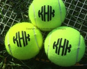 Mongrammed/Personalized Tennis Balls Set of 3