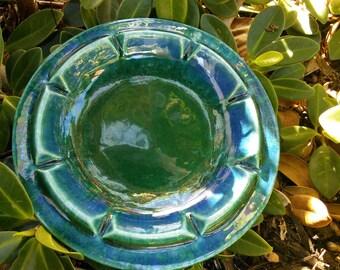 Vintage Royal Haeger Ashtray, Deep Blues/Greens, Turquoise Ashtray