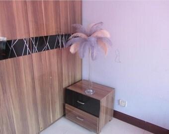 50 Champagne & 50 Silver wedding table centerpiecetable decoration,ostrich centerpiece,ostrich feather centerpiece