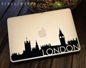 London Skyline Macbook Decal 3 | Macbook Sticker | Laptop Decal | Laptop Sticker | Car Sticker