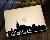 Nashville Skyline Macbook Decal 3 | Macbook Sticker | Laptop Decal | Laptop Sticker | Car Sticker