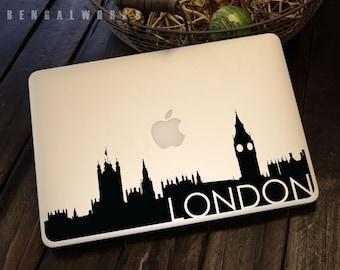 London Skyline Macbook Decal 3 | Macbook Sticker | Laptop Decal | Laptop Sticker | Car Sticker