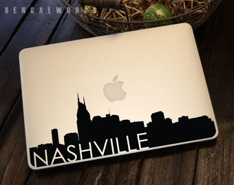 Nashville Skyline Macbook Decal 3 | Macbook Sticker | Laptop Decal | Laptop Sticker | Car Sticker