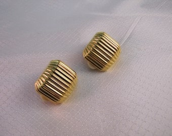 Vintage, c1980's Joan Rivers Gold Clip Fashion Earrings