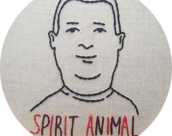 Bobby Hill is My Spirit Animal Embroidery in Embroidery Hoop