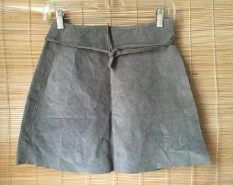 Vintage Grey Suede Hug Me Skirt Size S