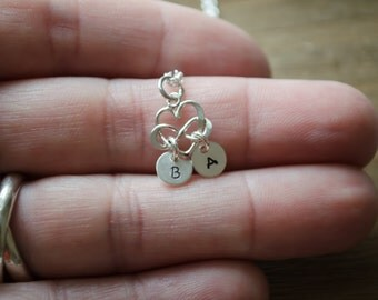 Couples Jewelry - Personalized Initials Necklace | Infinity Heart