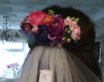 Floral Custom Made Hair Piece