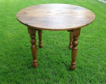 The Dubliner Farm Table - Handmade Round Wooden Pub Style Table made with Reclaimed Wood by Arcadian Cottage
