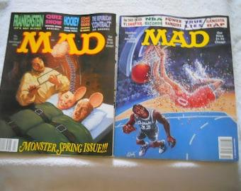 Mad Magazines 1995's Satire,Humor,Alfred E Newman