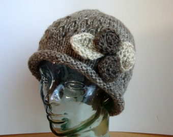 1920's Style Cloche Woman's Hat, Rolled Brim Hat