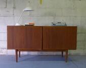 Mid Century Modern teak DANISH styled CREDENZA media stand