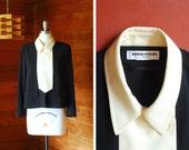 vintage Sonia Rykiel black and white jacket / size medium