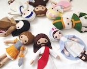 Custom - Catholic Felt Doll - Wool Felt Blend- Catholic Toy