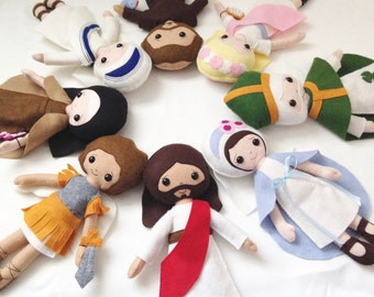 Custom - Catholic Felt Doll - Wool Felt Blend- Catholic Toy
