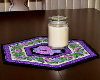 Table Topper - Candle Mat - Lovely Hydrangea Candle Mat