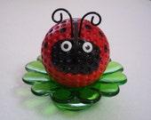 Red Ladybug Desk Flower / Ladybug Paper Weight