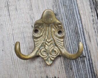 Vintage solid brass wall hook,hanger.