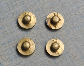 Vintage miniature brass Weights. 10 grams.Set of 4.