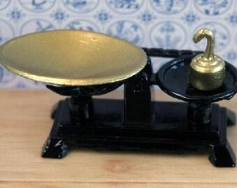 Dolls House Miniature Black Scales