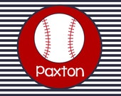 Personalized Baseball Placemat