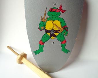 Vintage Homemade Ninja Turtle Shield and Sword, Teenage Mutant Ninja Turtles
