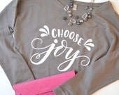 Choose Joy Hand Lettered Lightweight Sweatshirt