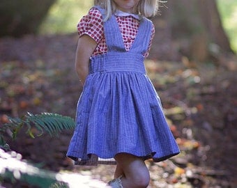 Lottie Scalloped Pinafore PDF Pattern & Tutorial, All sizes 2-10 years included