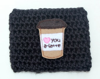 Crochet Latte Coffee Cup Cozy Reusable Coffee Mug Sleeve