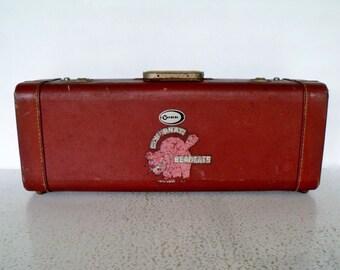 """22"""" Instrument Case York Trumpet Horn Brick Red with Soft Velour Interior"""