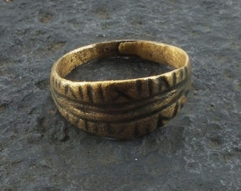 Fantastic Ancient Viking Ring for the Norse Warrior  C.866-1067A.D. Size 11 1/4  (21.1mm)(Brr1103)