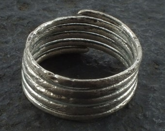 Authentic Ancient Viking Coil Snake Ring  C.866-1067 A.D. Size 10    (20.1mm)(brr1096) Vikking Ring