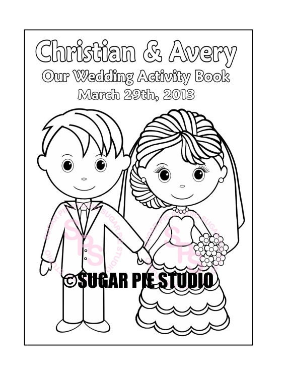 It is a graphic of Exhilarating Personalized Wedding Coloring Book