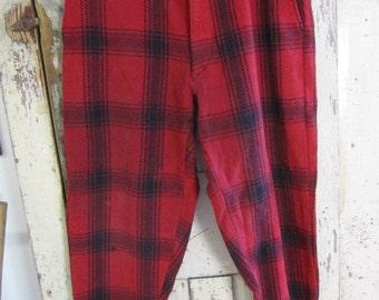 Plaid wool pants | Etsy