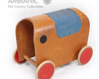 European 1950s Elephant Toy Car , Mid Century Period
