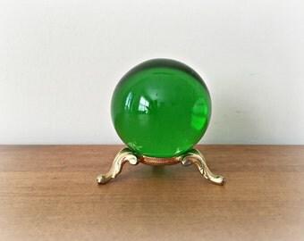 Green Crystal Ball Gazing Ball Emerald Green Sphere