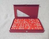 Vintage Double Six Jumbo Red Dominoes