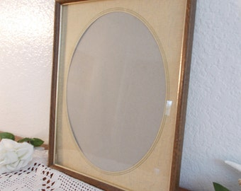 Large Vintage Oval Picture Frame Rustic Shabby Chic Wedding Decoration Mid Century Country Farmhouse Victorian Retro Cottage Home Decor Gift