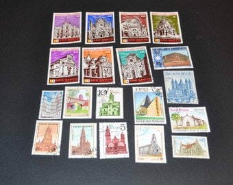 50 Church stamps from around the world