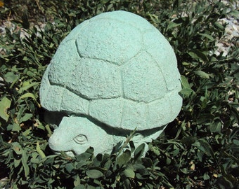Turtle, Turtle Statue, Garden Statuary, Chubby Concrete Turtle,  Weighs Over Seven Pounds, Statuary, Garden
