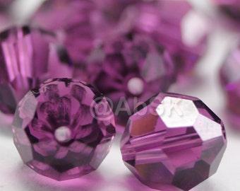 Promotion Item - 100 pcs Swarovski Elements 5000 5mm Crystal Round Beads - AMETHYST (While Stocks Last)