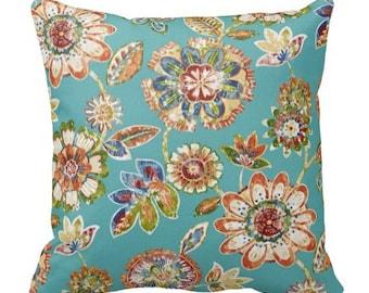 outdoor pillows, floral pillow, outdoor pillow cover, outdoor pillow blue, outdoor pillow lumbar, lumbar pillow, throw pillow, pillow case