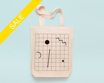 GRID - Screen printed canvas fair trade eco-tote bag