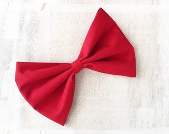 Red Pin up Rockabilly large hair bow