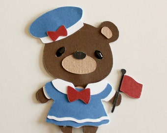 New teddy bear die cut - Sailor Girl