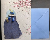 Korean Traditional Designed Card - Korean Traditional Cloth Hanbok 4