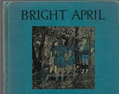 VINTAGE AFRICAN AMERICAN Hardcover Book, Copyright 1946, Title is Bright April By Marguerite De Angeli, Children's Book, Philadelphia, Books