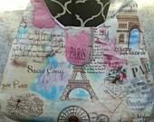 Paris Purse - Eiffel Tower Shoulder Bag - Handbag - France - Arc de Triumph - OOAK - Ready to Ship