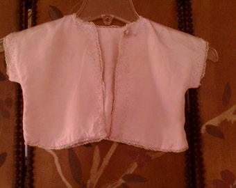 1940s pink quilty baby girls summer coat
