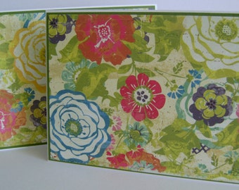 Mixed Set of 10 Floral Note Cards